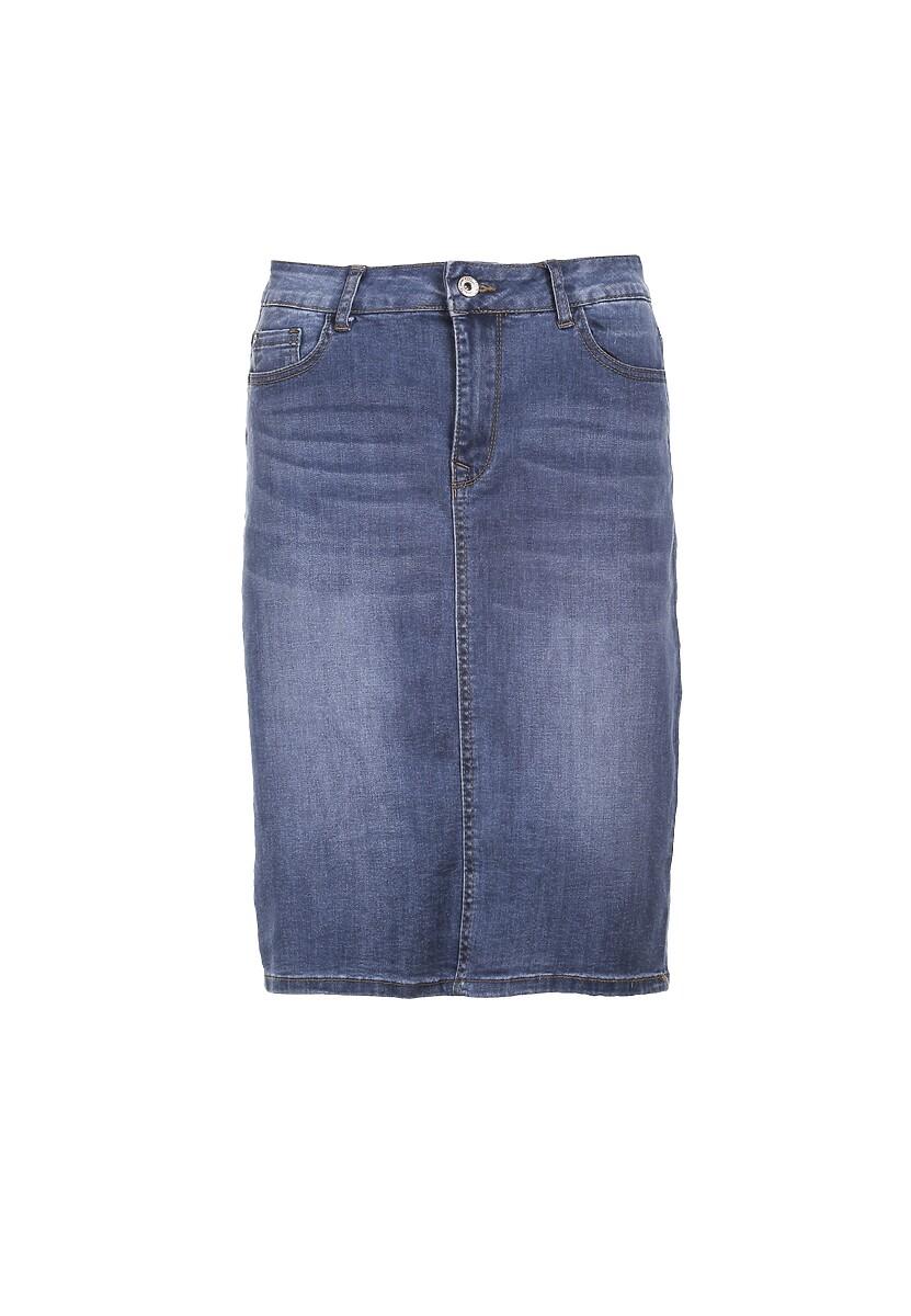 Niebieska Spódnica Rhaekea