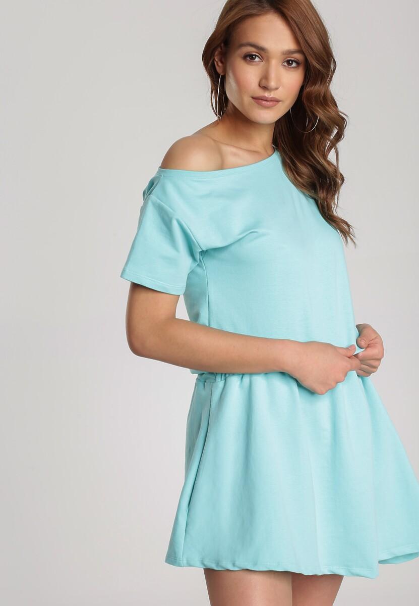 Miętowa Sukienka Doviane