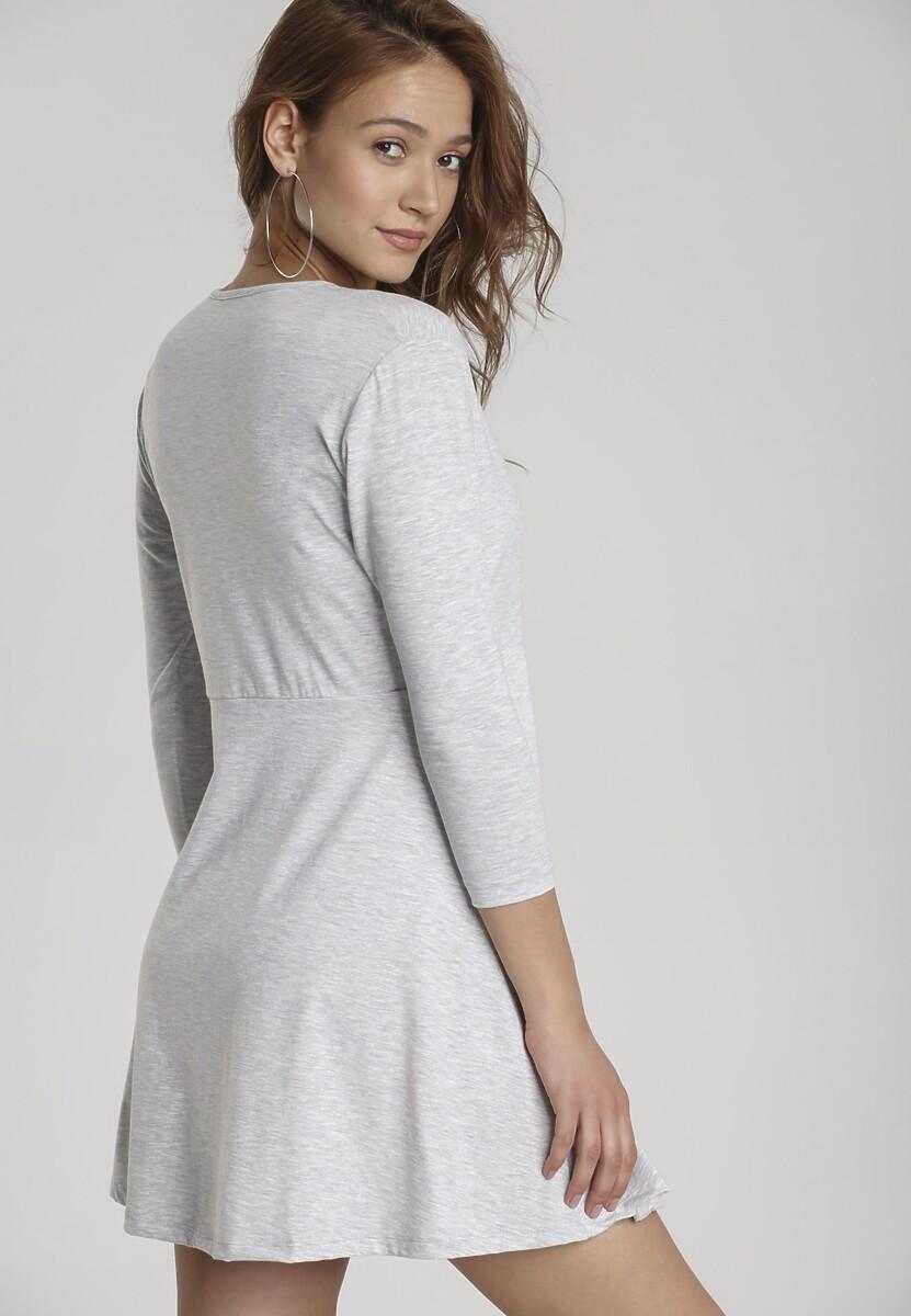 Szara Sukienka Ilelea