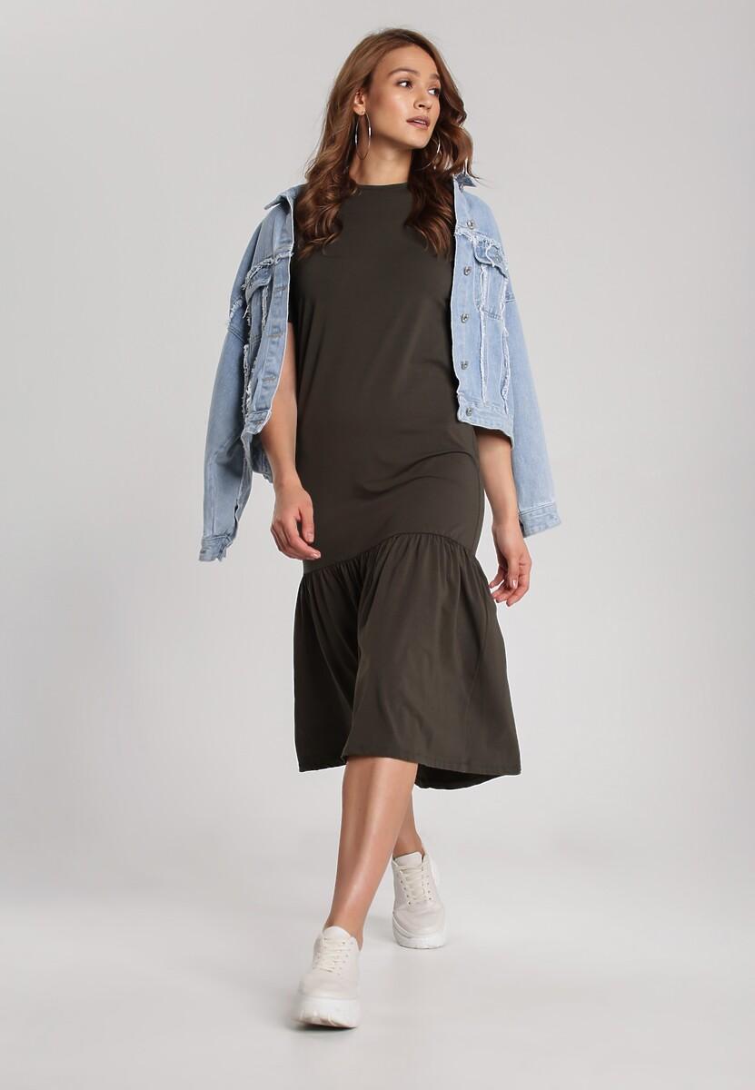 Khaki Sukienka Dorynele