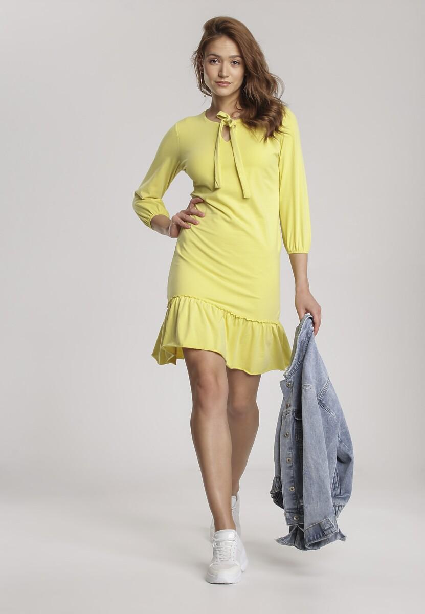 Jasnożółta Sukienka Mererien