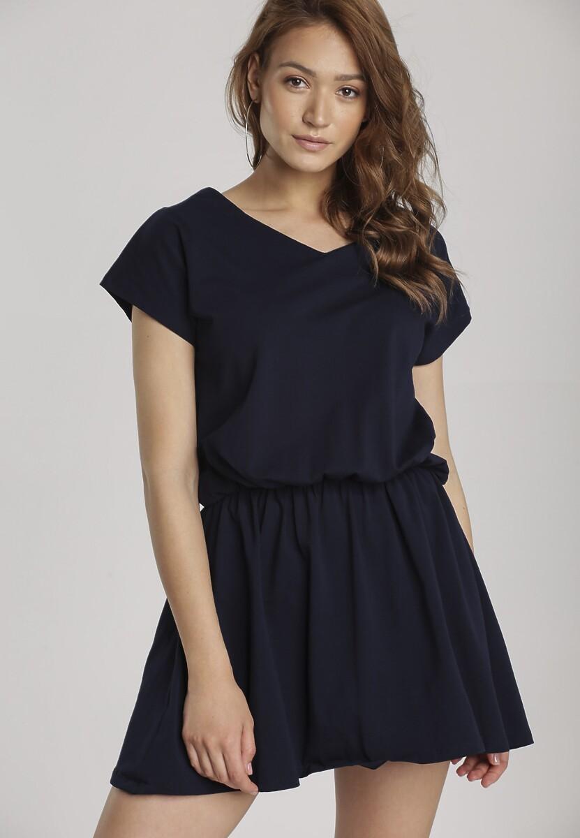 Granatowa Sukienka Daeicia