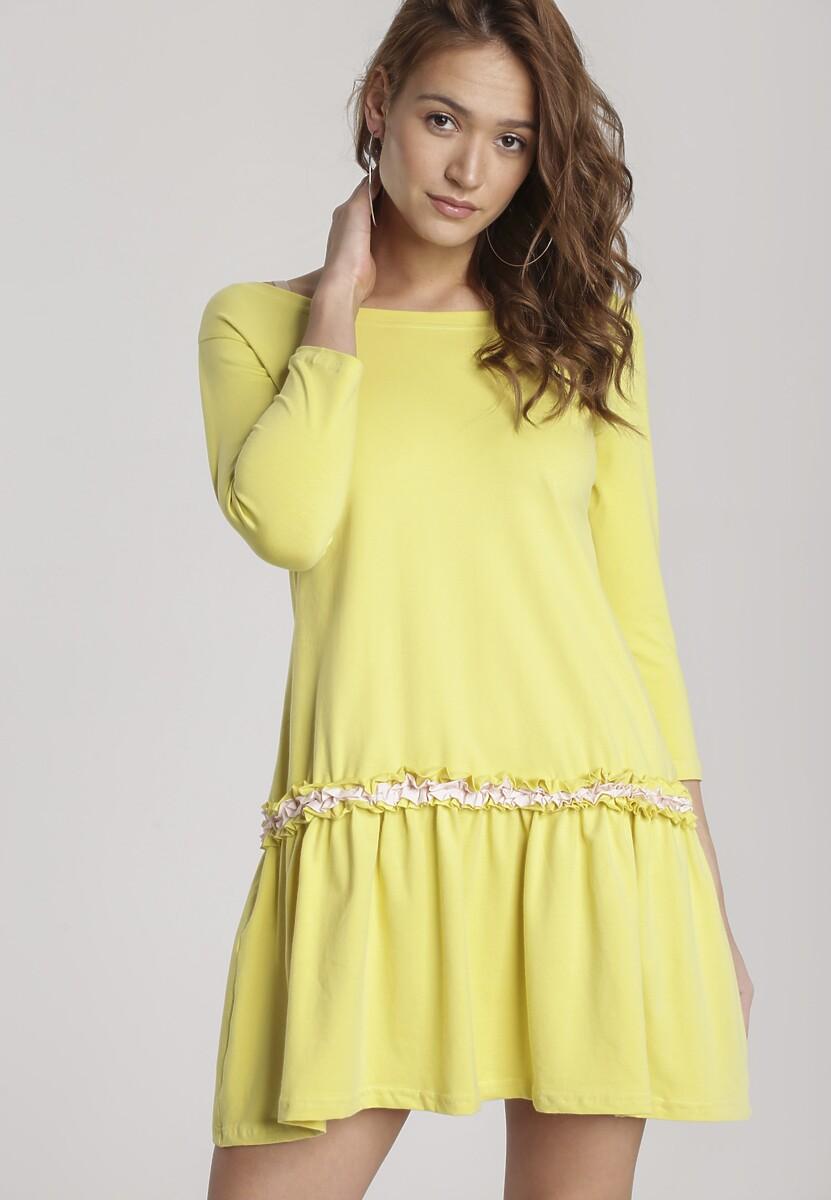 Jasnożółta Sukienka Palathyia