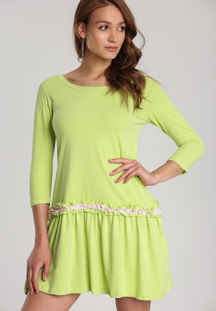 Limonkowa Sukienka Palathyia