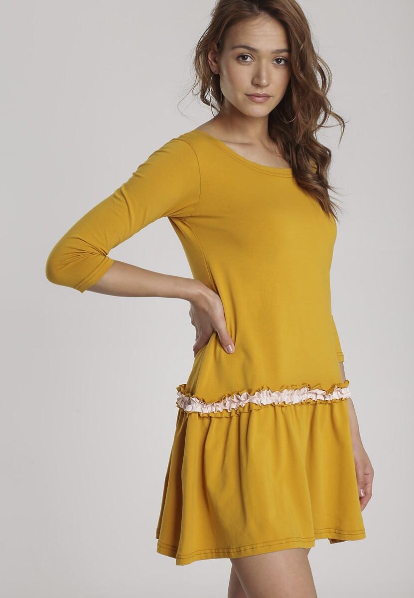 Żółta Sukienka Palathyia