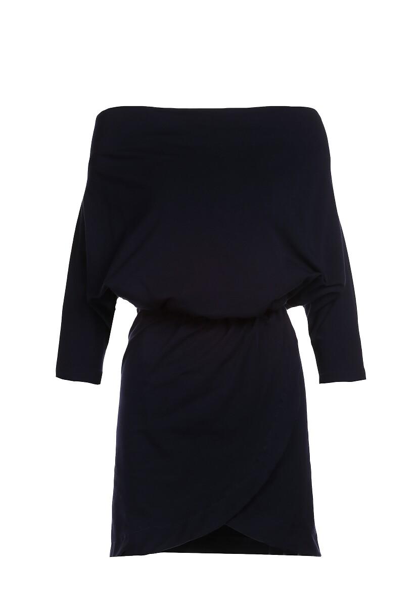 Granatowa Sukienka Aquaneh