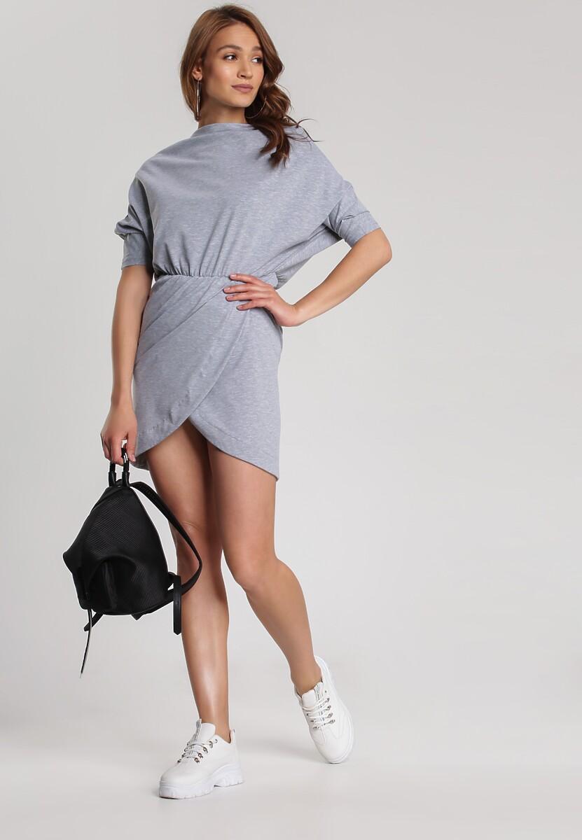 Szara Sukienka Aquaneh