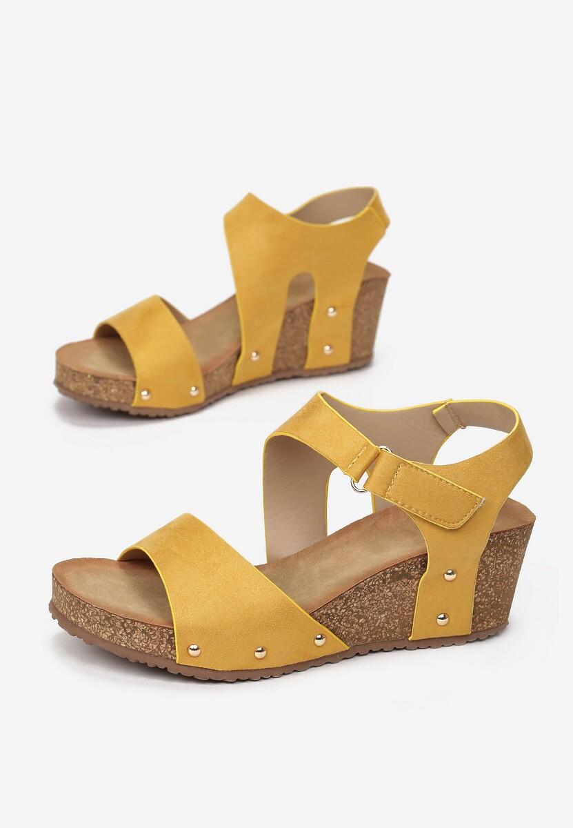 Żółte Sandały Allunah