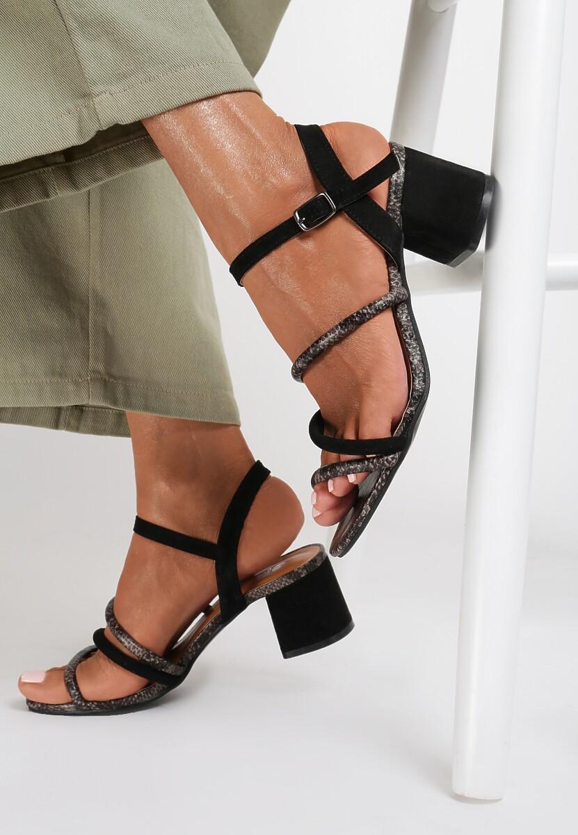 Czarne Wężowe Sandały Aethesesis Kod produktu: 120311