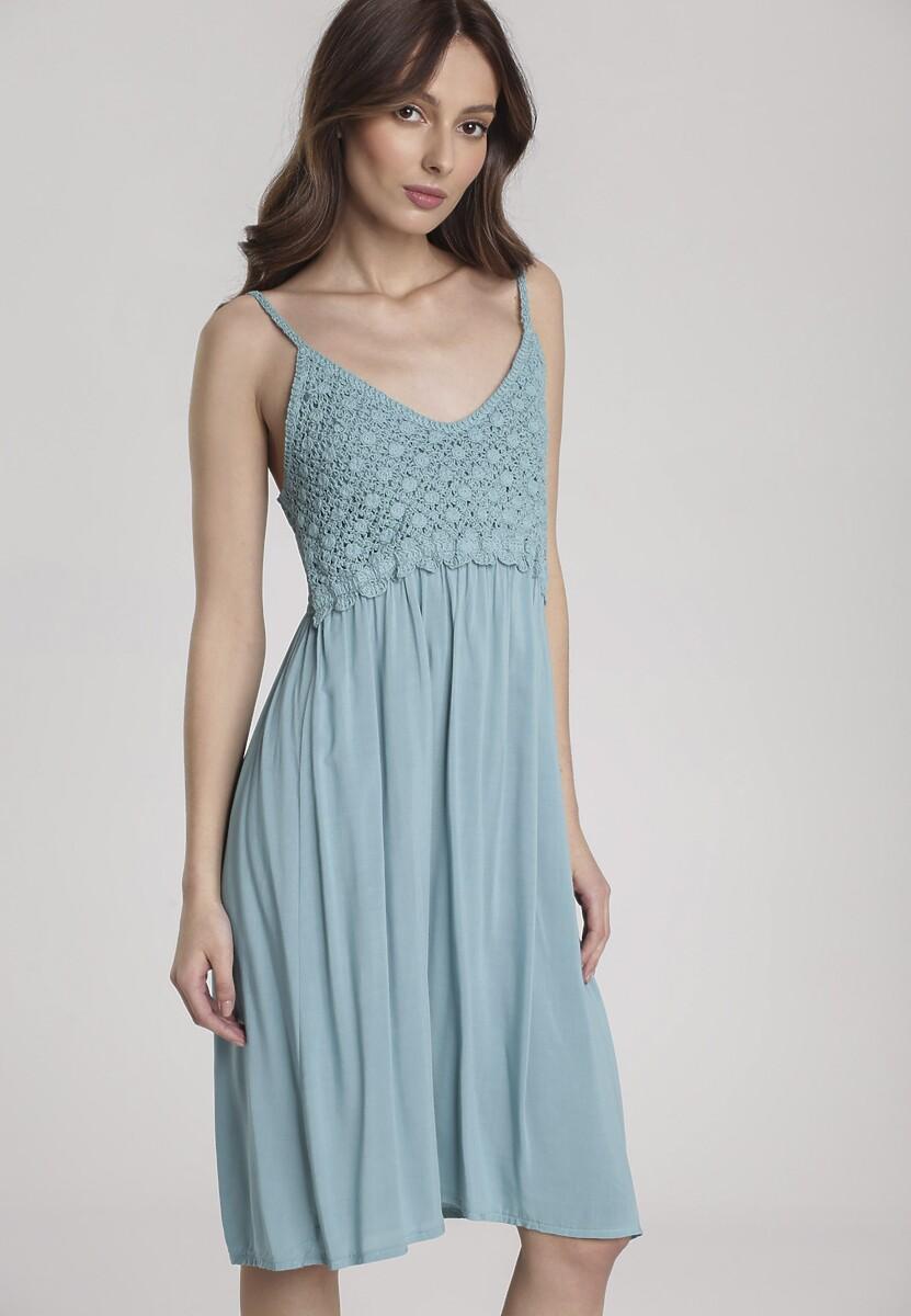 Niebieska Sukienka Viviatina Kod produktu: 120093