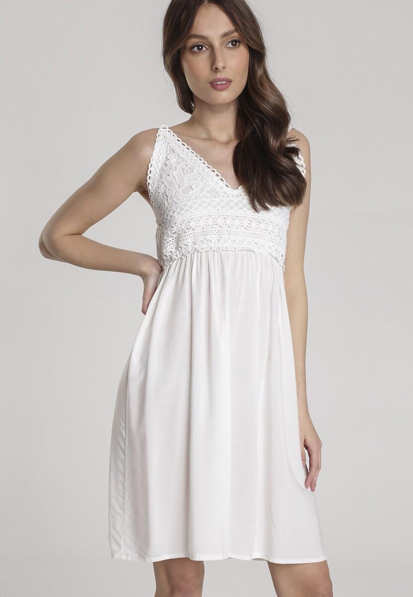 Biała Sukienka Zhabel