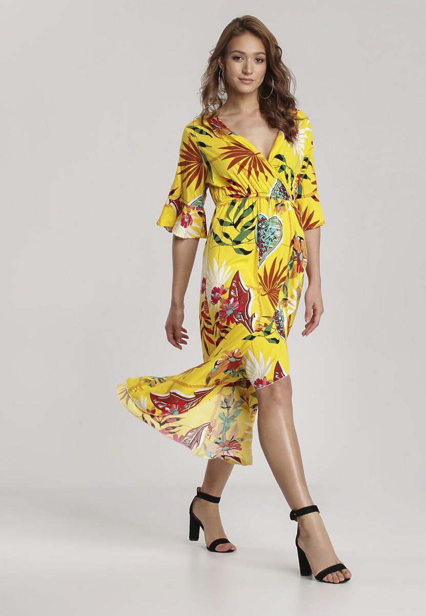 Żółta Sukienka Nerivien
