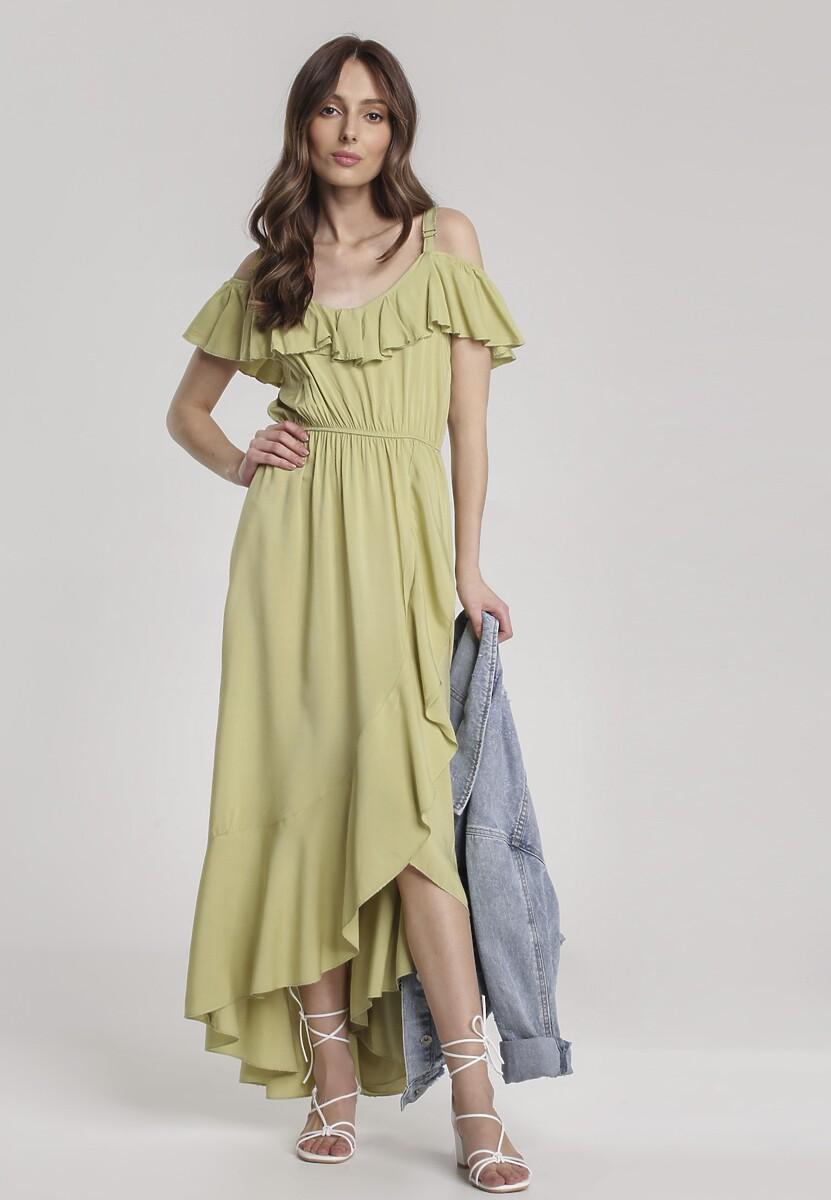 Jasnozielona Sukienka Chelgana