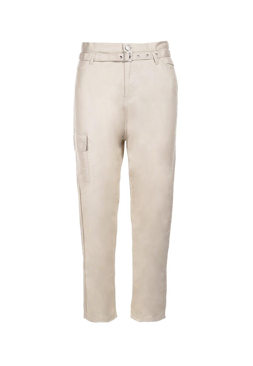 Beżowe Spodnie Peilirea