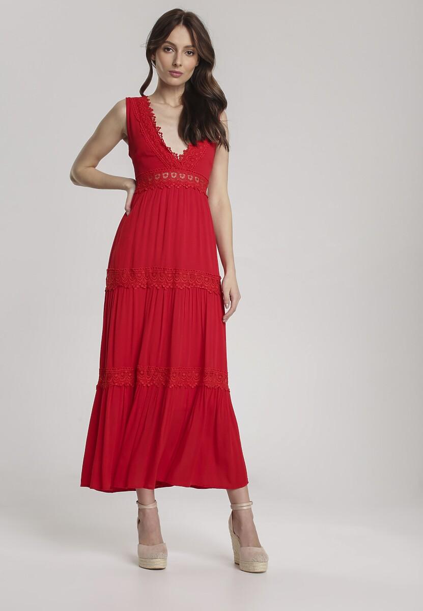 Czerwona Sukienka Lorevia