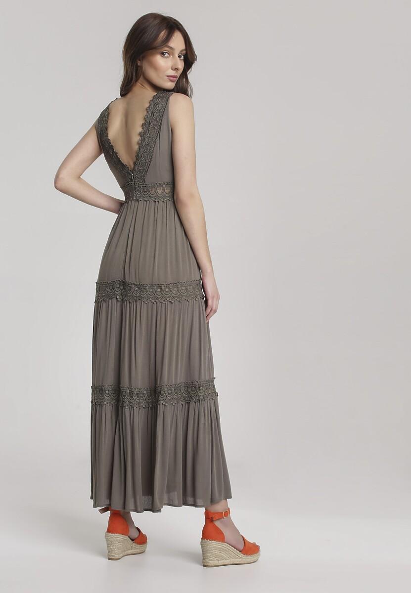 Ciemnozielona Sukienka Lorevia