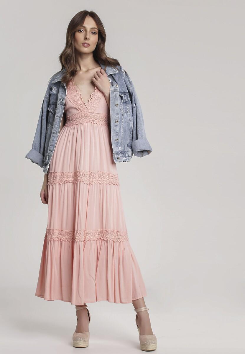 Różowa Sukienka Lorevia