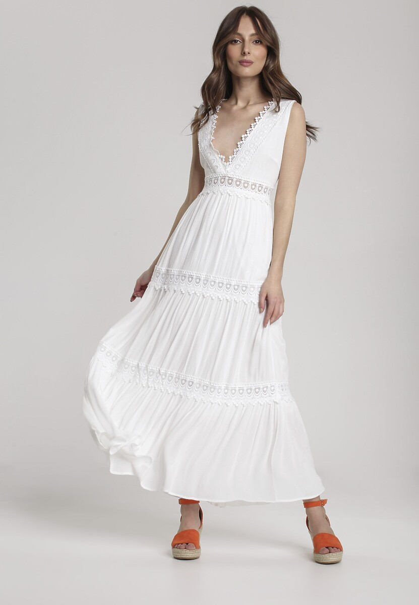 Biała Sukienka Lorevia