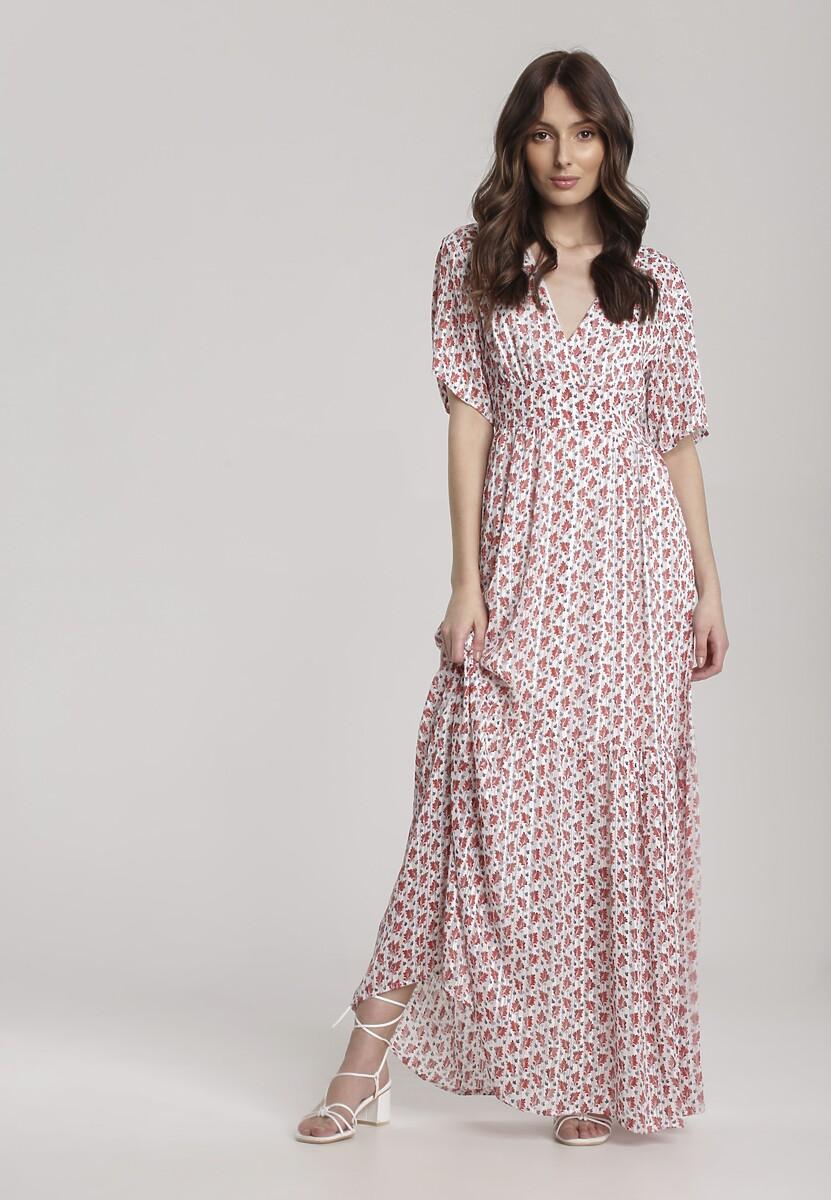 Biało-Czerwona Sukienka Aemara