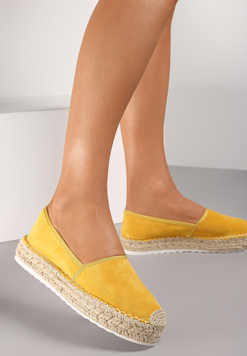 Żółte Espadryle Akranes