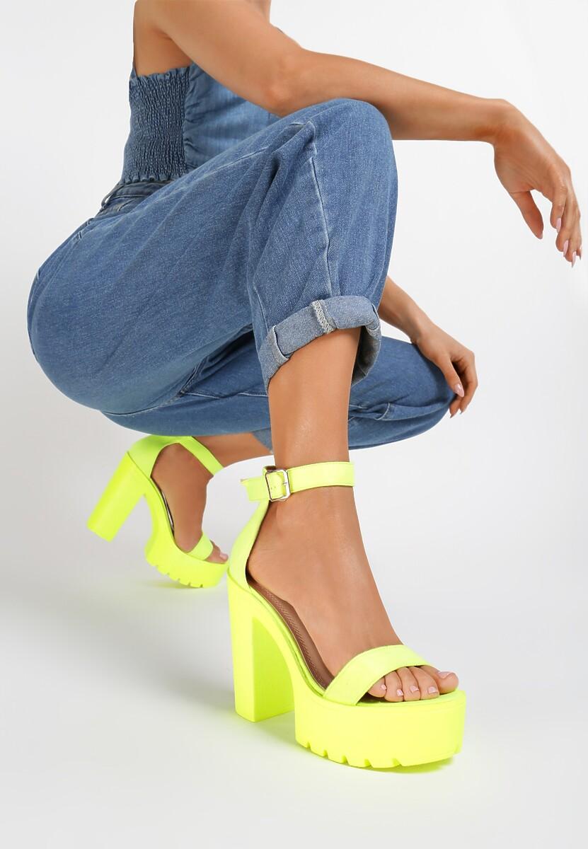 Limonkowe Sandały Evathusa Kod produktu: 121220