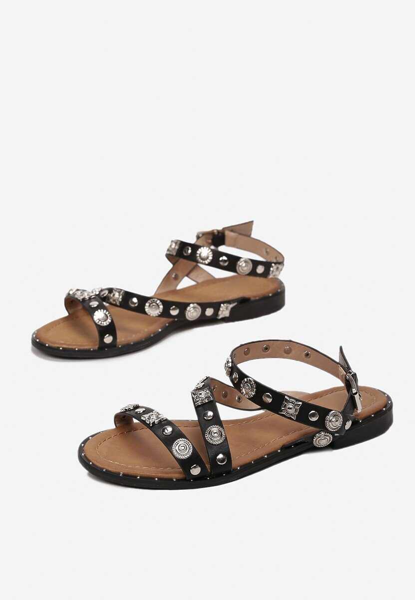 Czarne Sandały Merema