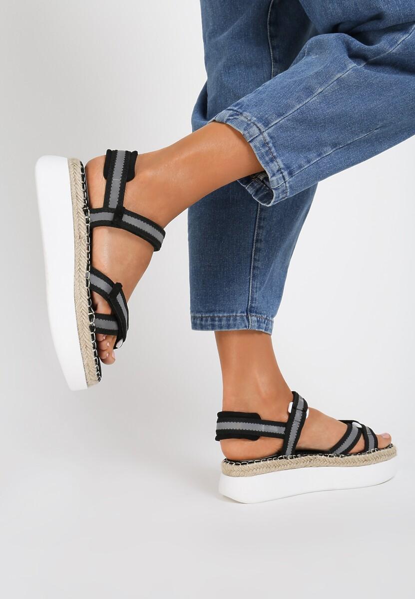 Czarne Sandały Adrilla