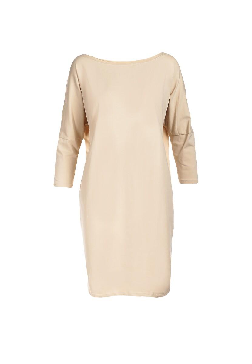 Jasnobeżowa Sukienka Dorinoire