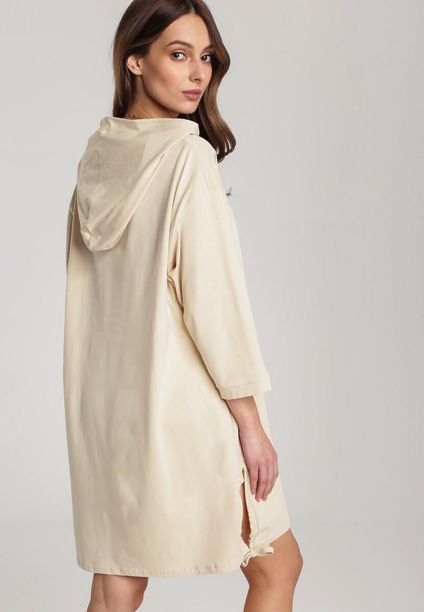 Jasnobeżowa Sukienka Sirius