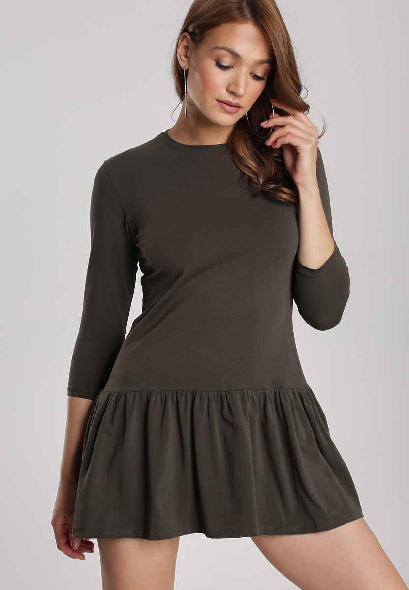 Khaki Sukienka Lamelirea