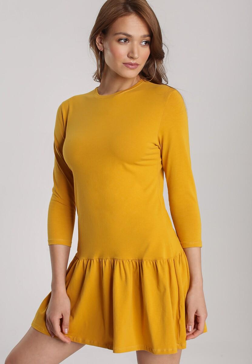 Żółta Sukienka Lamelirea Kod produktu: 121522