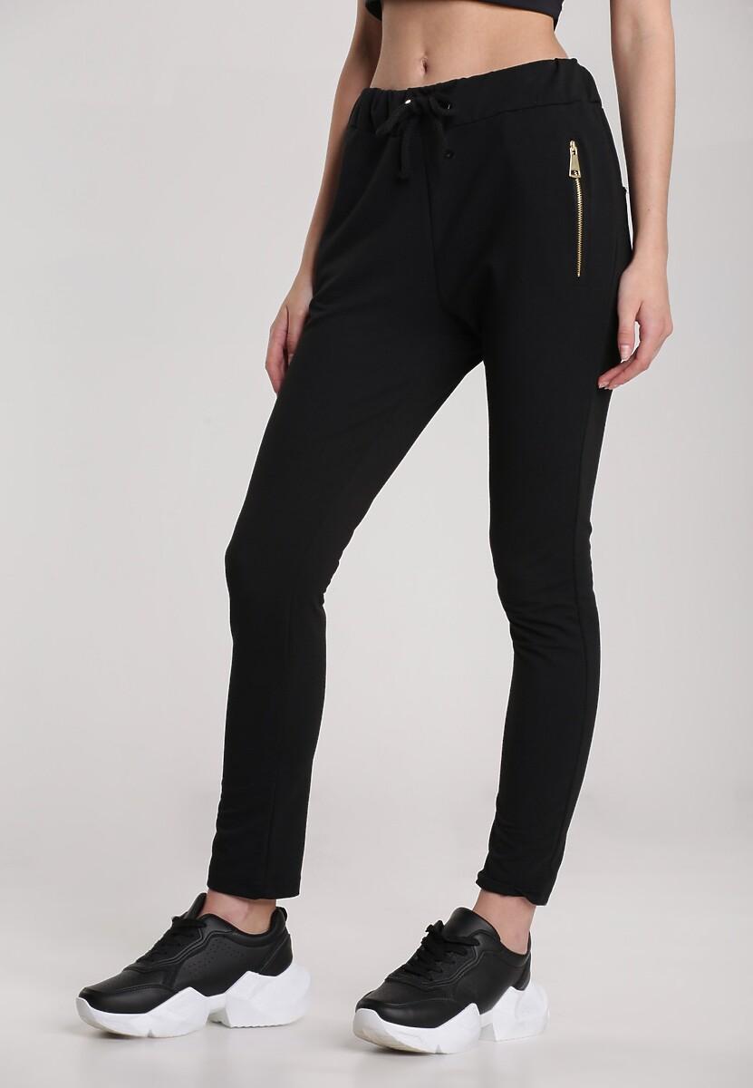 Czarne Spodnie Aglaxera