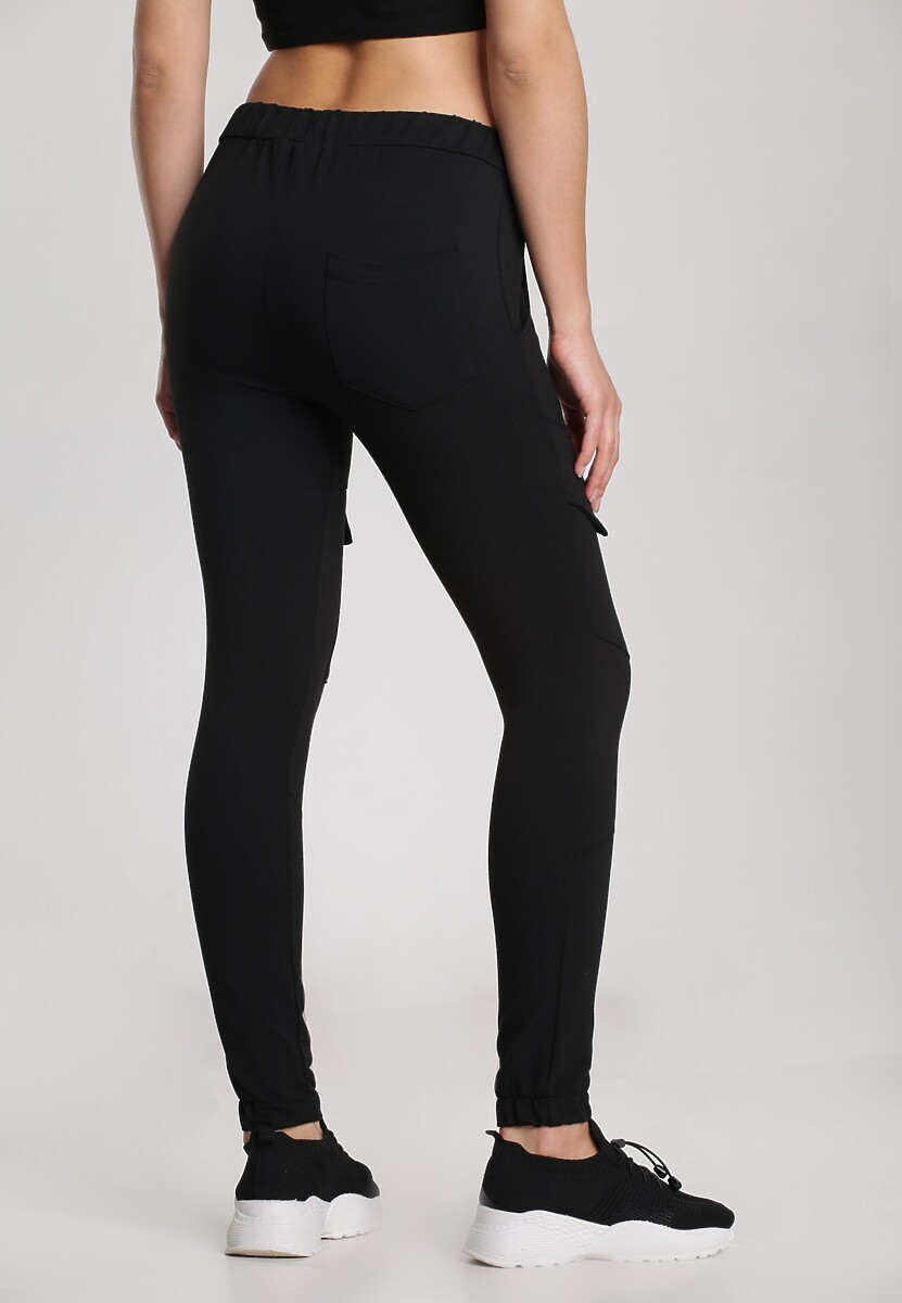 Czarne Spodnie Rhenelise