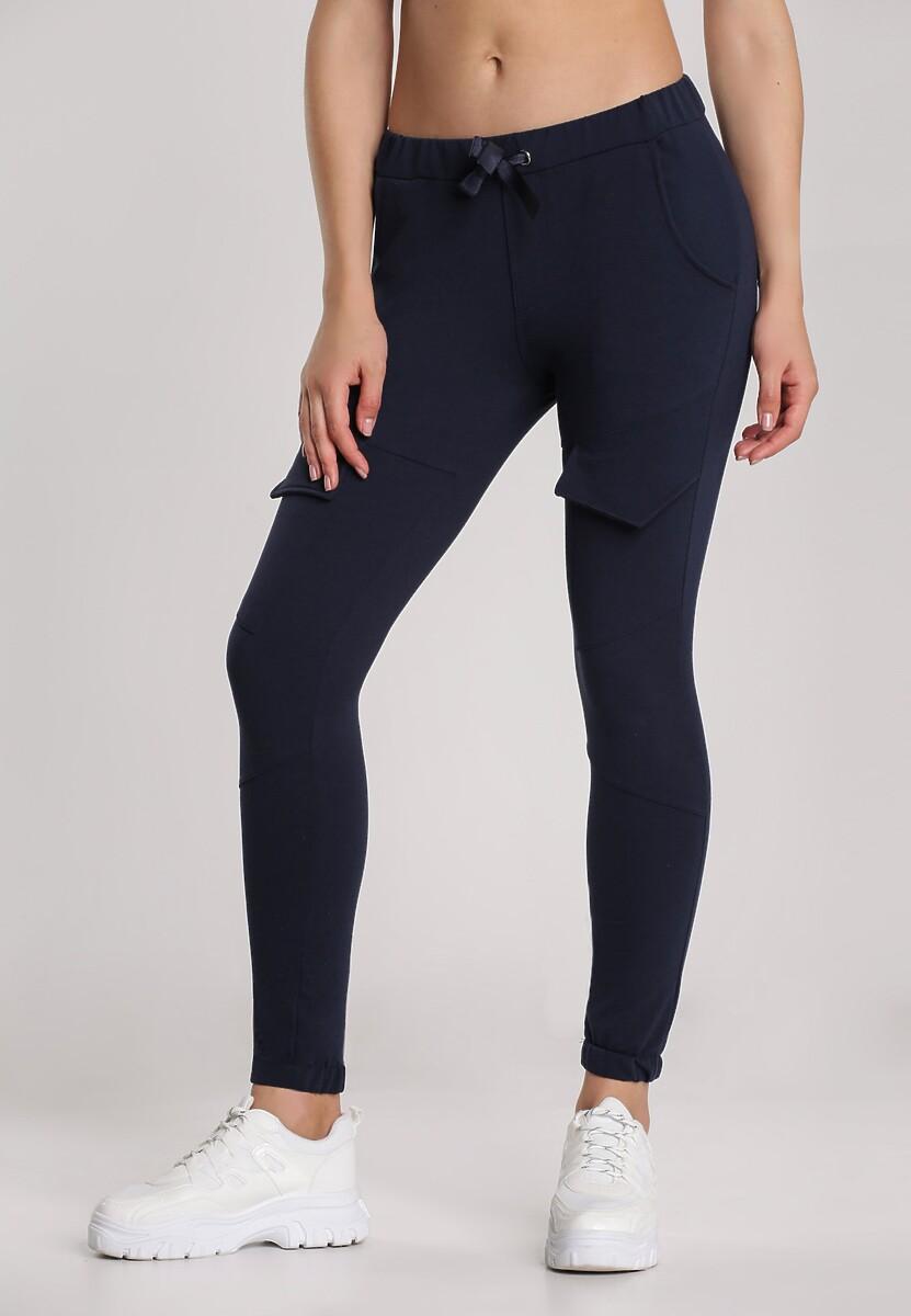 Granatowe Spodnie Rhenelise