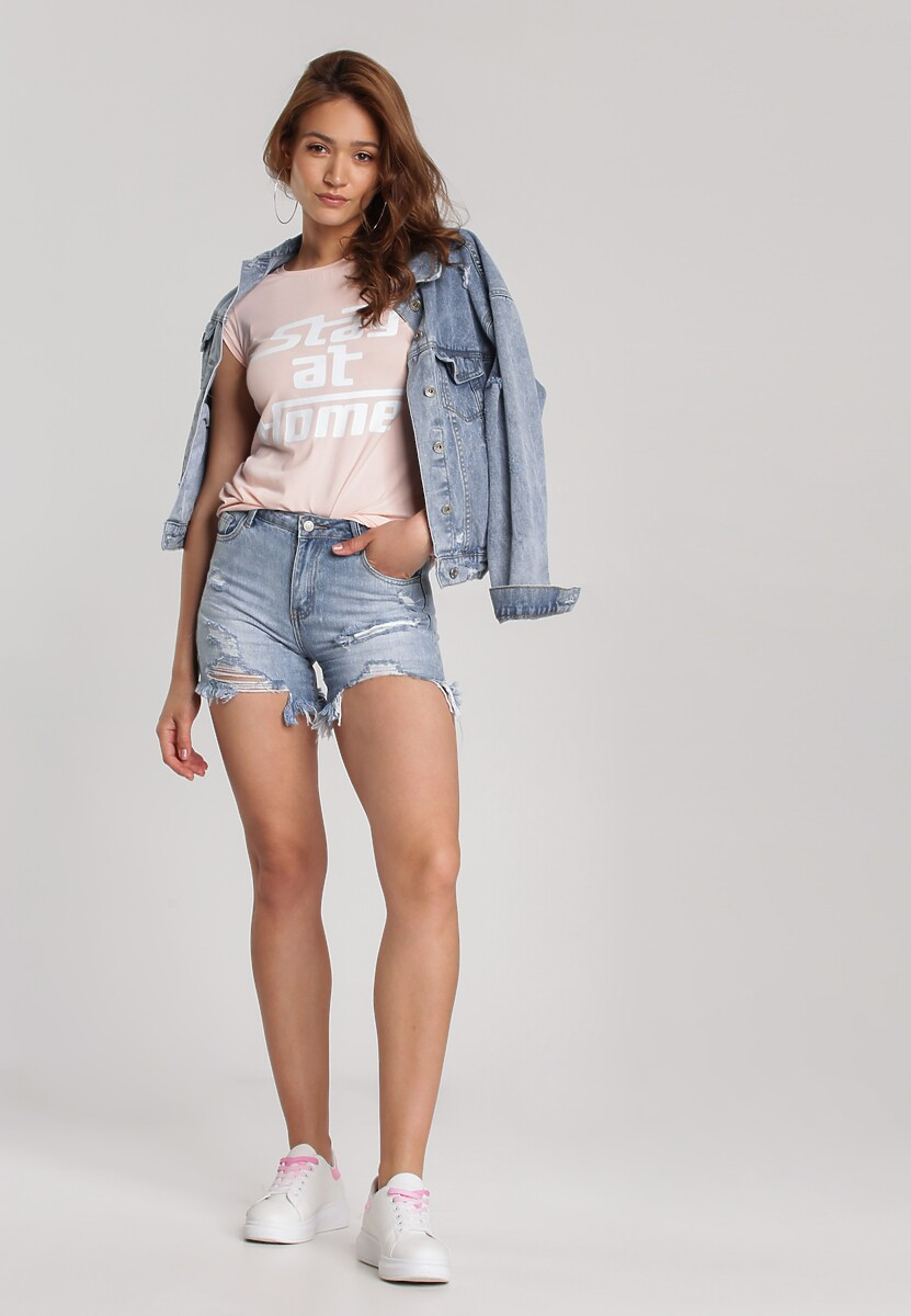 Jasnoróżowy T-shirt Loraisea