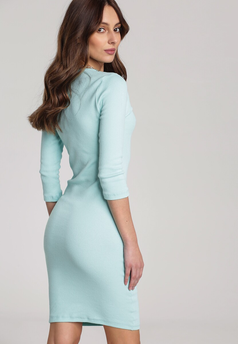 Miętowa Sukienka Antaris