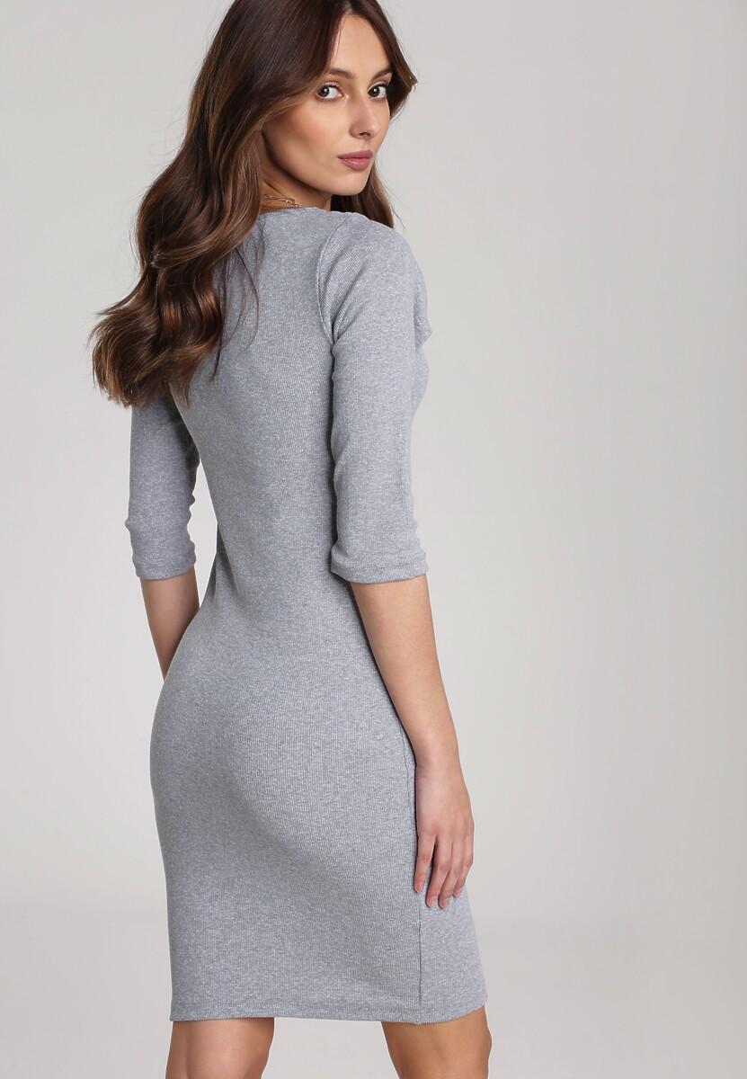 Szara Sukienka Antaris