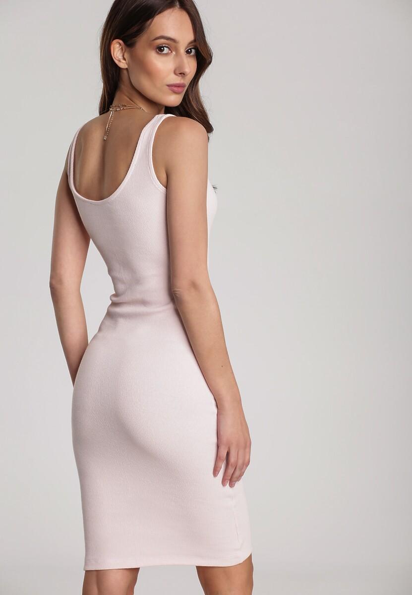 Jasnoróżowa Sukienka Laomephia