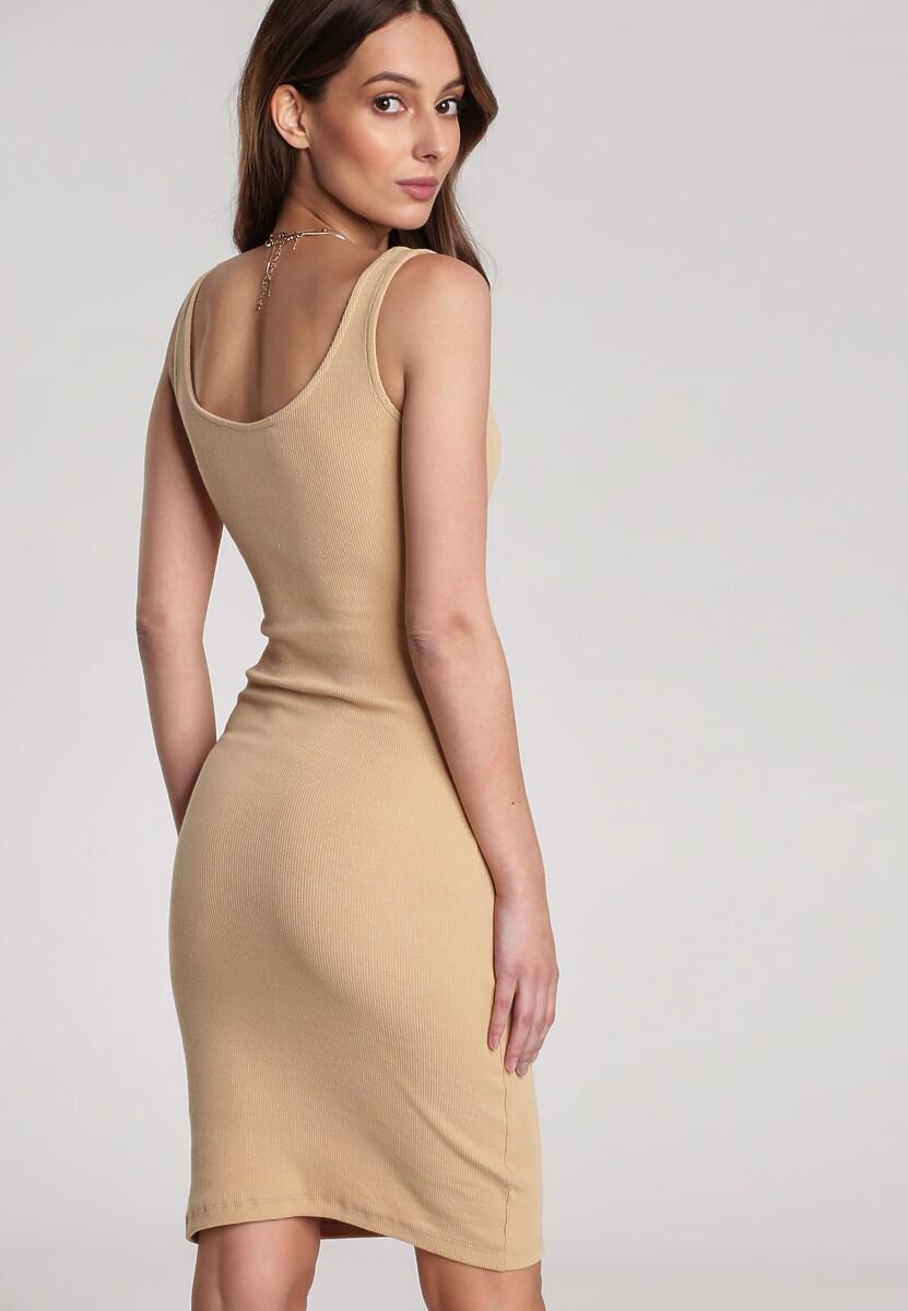 Jasnobeżowa Sukienka Laomephia