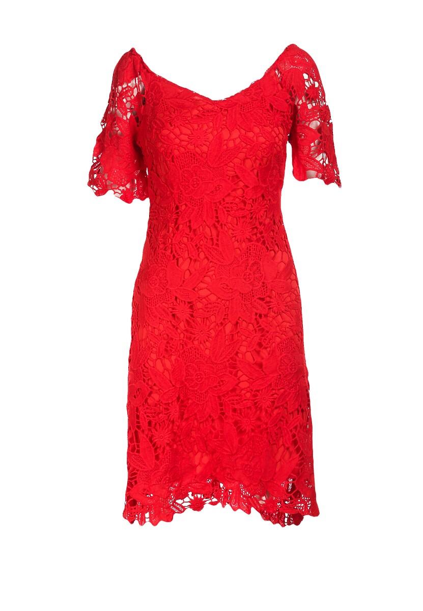 Czerwona Sukienka Alusana