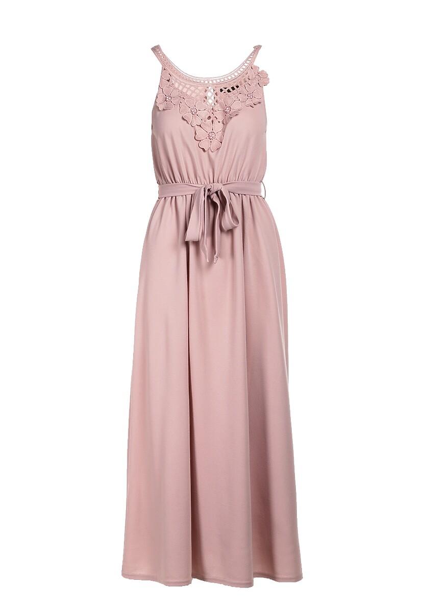 Jasnoróżowa Sukienka Parphaeia