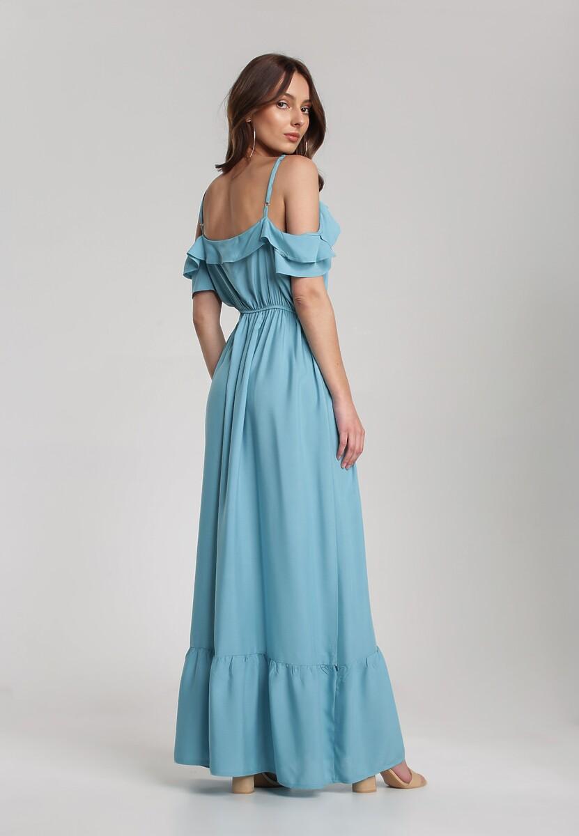 Niebieska Sukienka Echodine