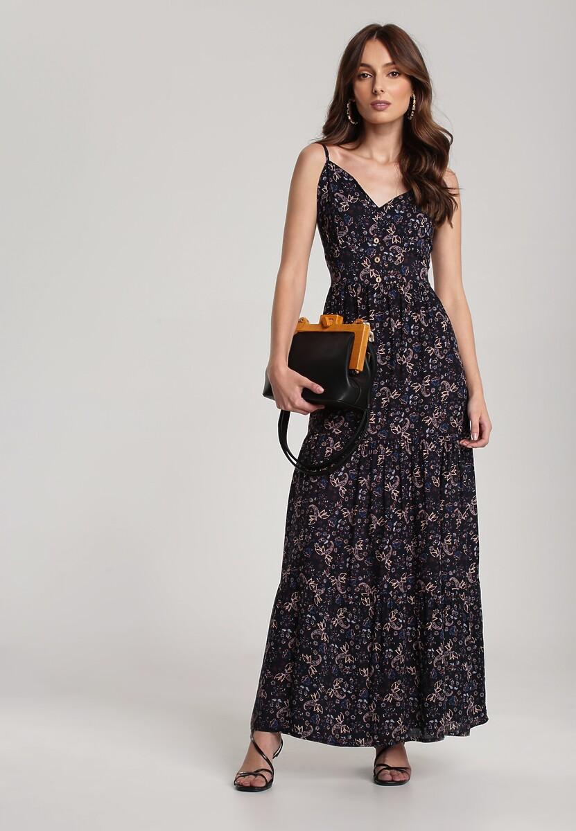 Granatowa Sukienka Salosia