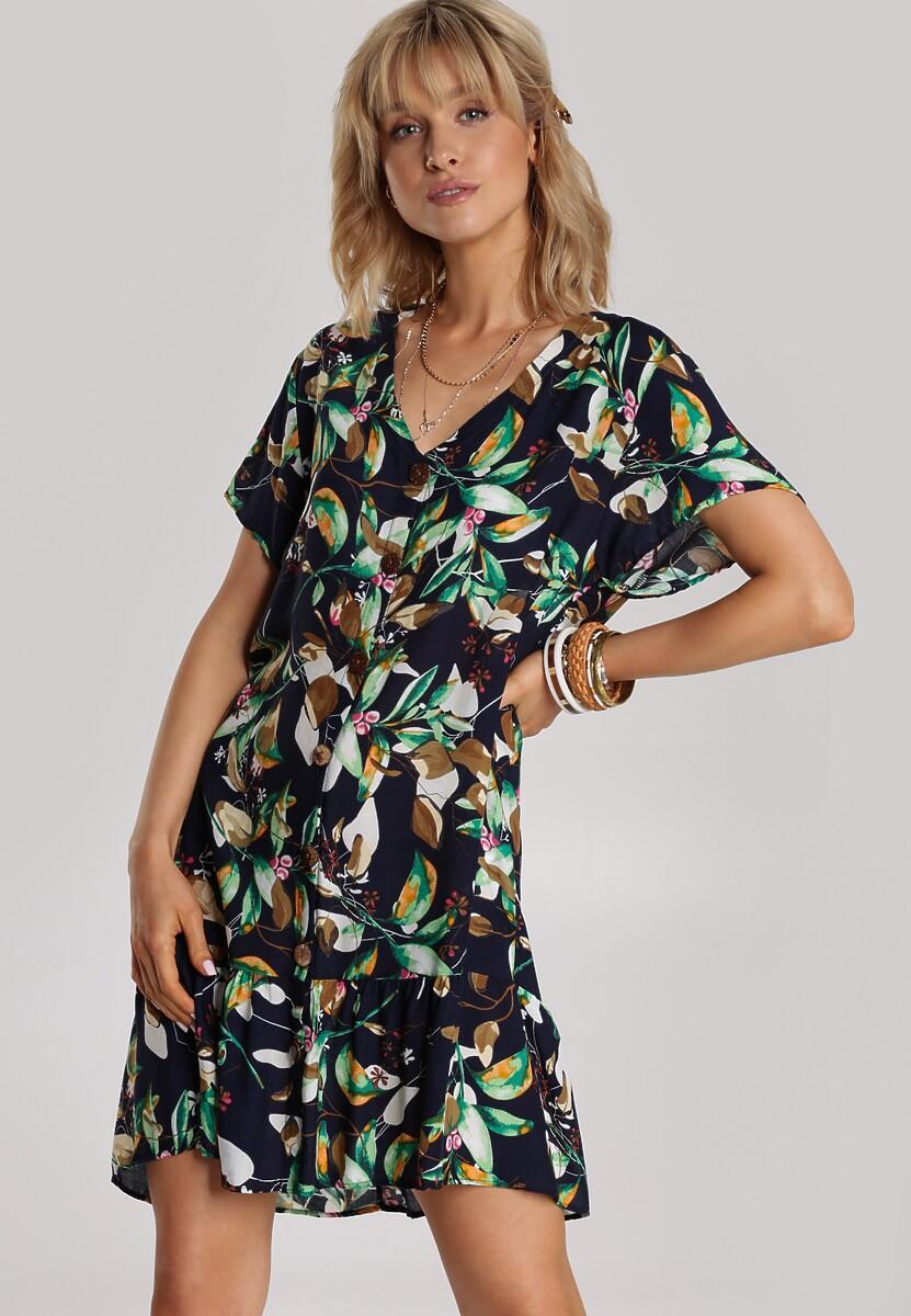 Granatowa Sukienka Perinisse