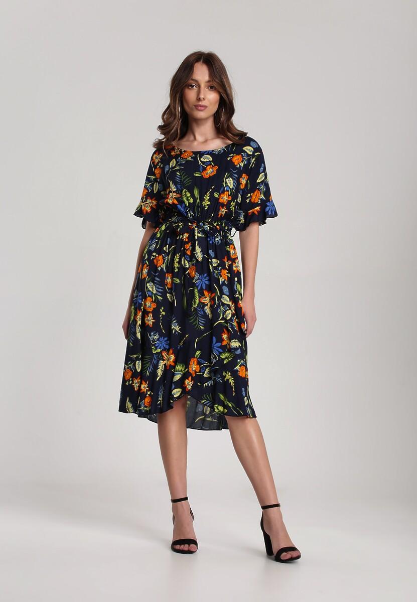 Granatowa Sukienka Rhenesiphe