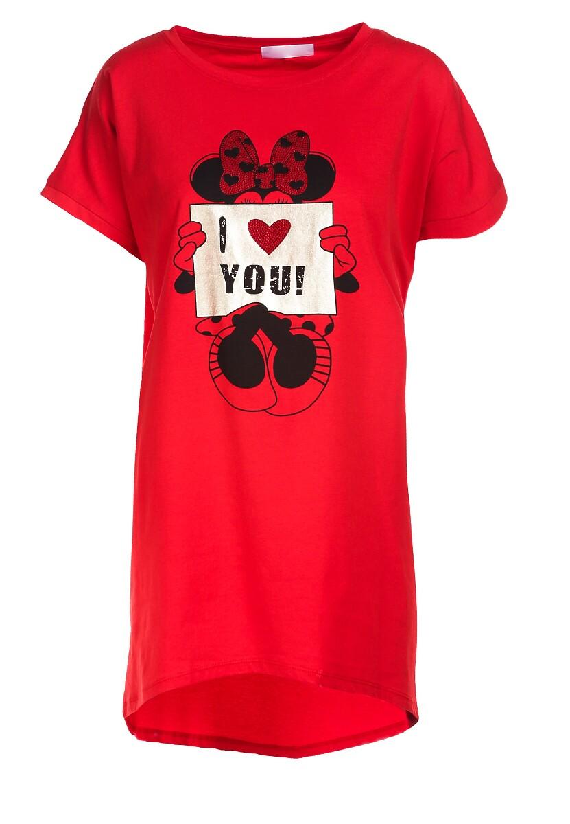 Czerwony T-shirt Pericine