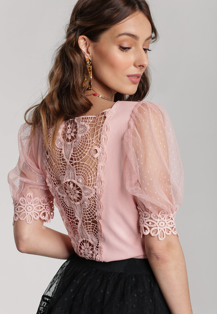 Różowa Bluzka Kyssa