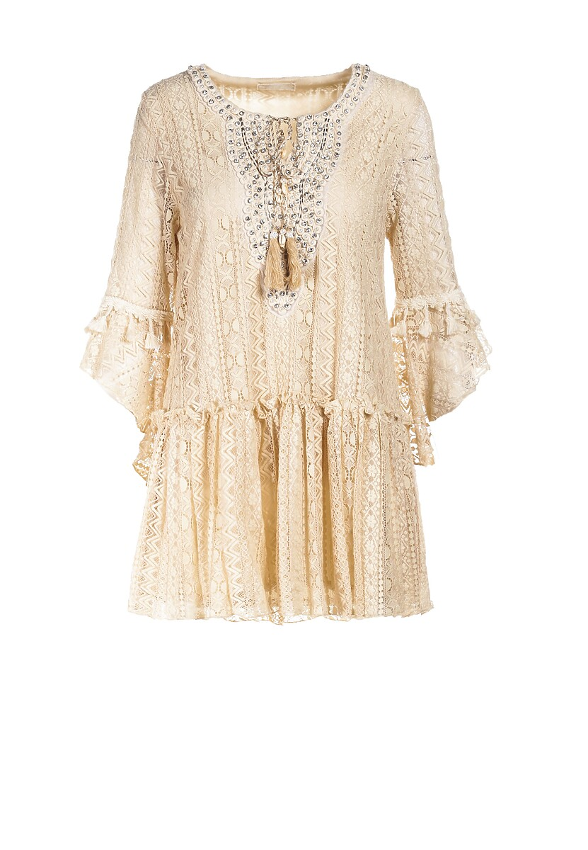 Jasnobeżowa Sukienka Mayatina