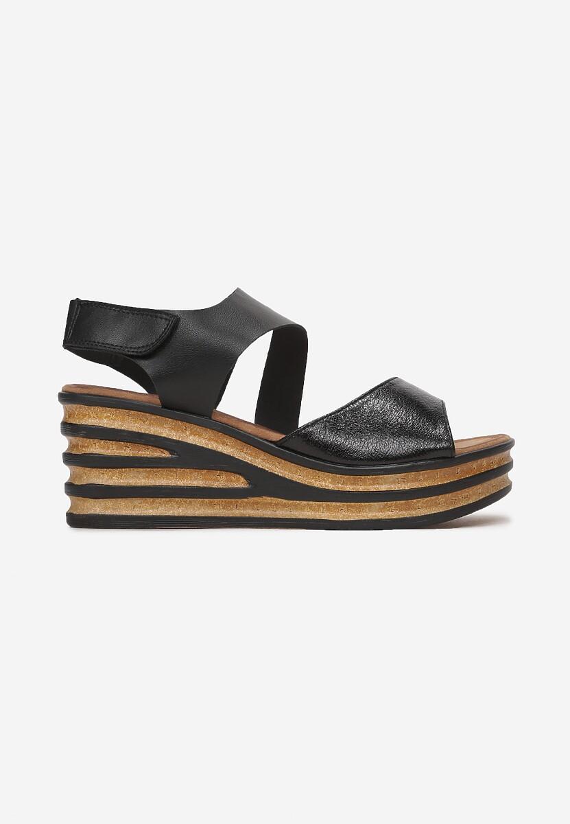 Czarne Sandały Yashila