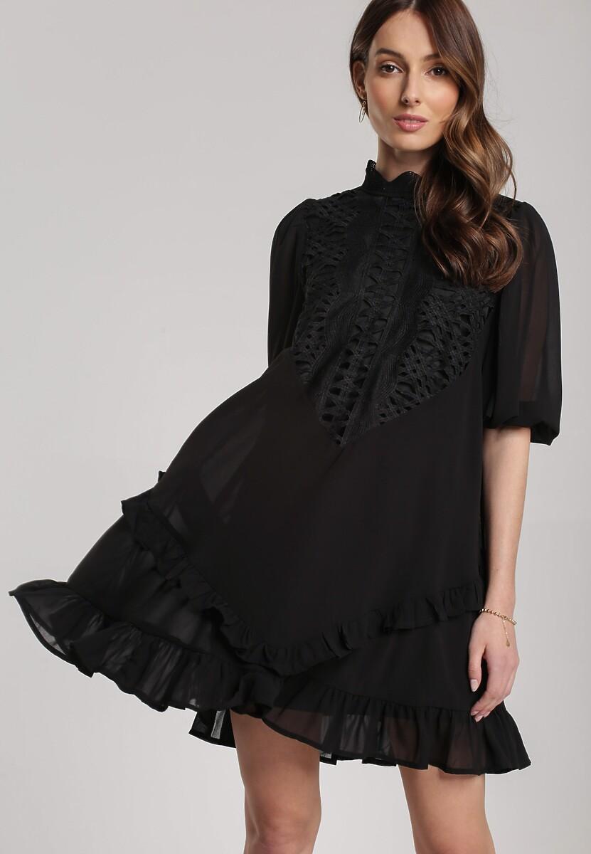 Czarna Sukienka Aqearea
